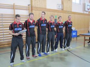 2. Herren Saison 2010/2011 (vlnr. Jakob Mund, Benjamin Bauer, Robert Hofmann, Marian Schmalz, Kai Wienholz, Steven Sachse)