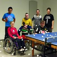 Teilnehmer des Behindertenprojekts