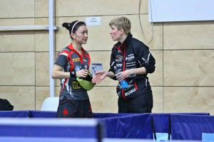 Shan Xiaona(li) & Kristin Silbereisen_Leutzscher Fuechse gegen FSV Kroppach_Foto_Thomas Luckanus_Bild 172