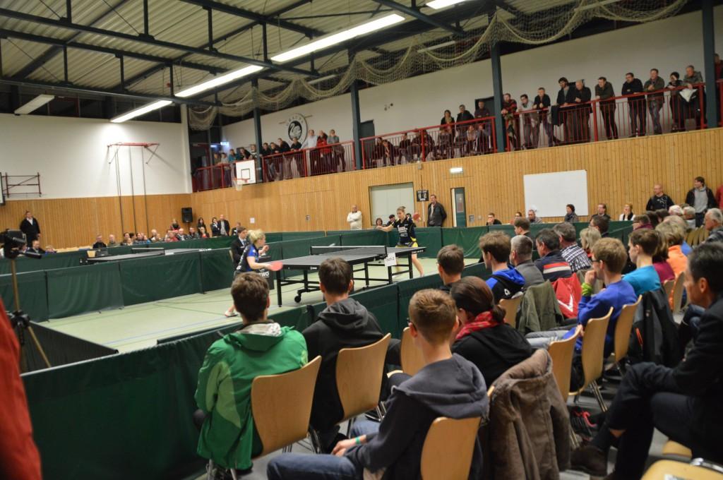 Blick in die Halle des TSV Graupa