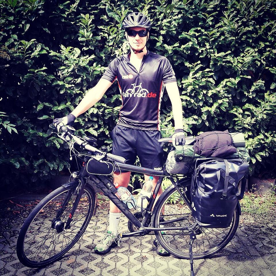 Sascha, der Fahrradjunkie.